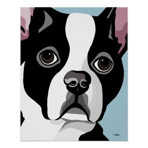 Boston Terrier Computer Art