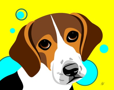 Beagle illustration posters