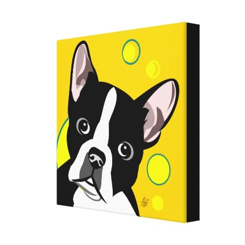 Boston Terrier Canvas Art